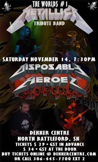 DISPOSABLE HEROES SET TO PLAY NORTH BATTLEFORD SK